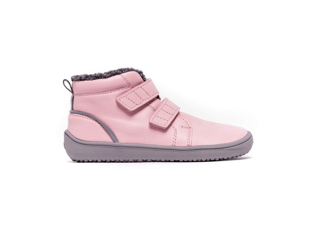 Dětské zimní barefoot boty Be Lenka Penguin - Pink