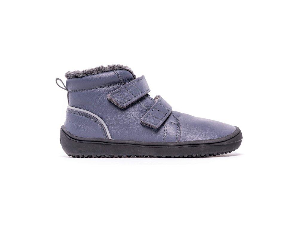 Dětské zimní barefoot boty Be Lenka Penguin - Charcoal
