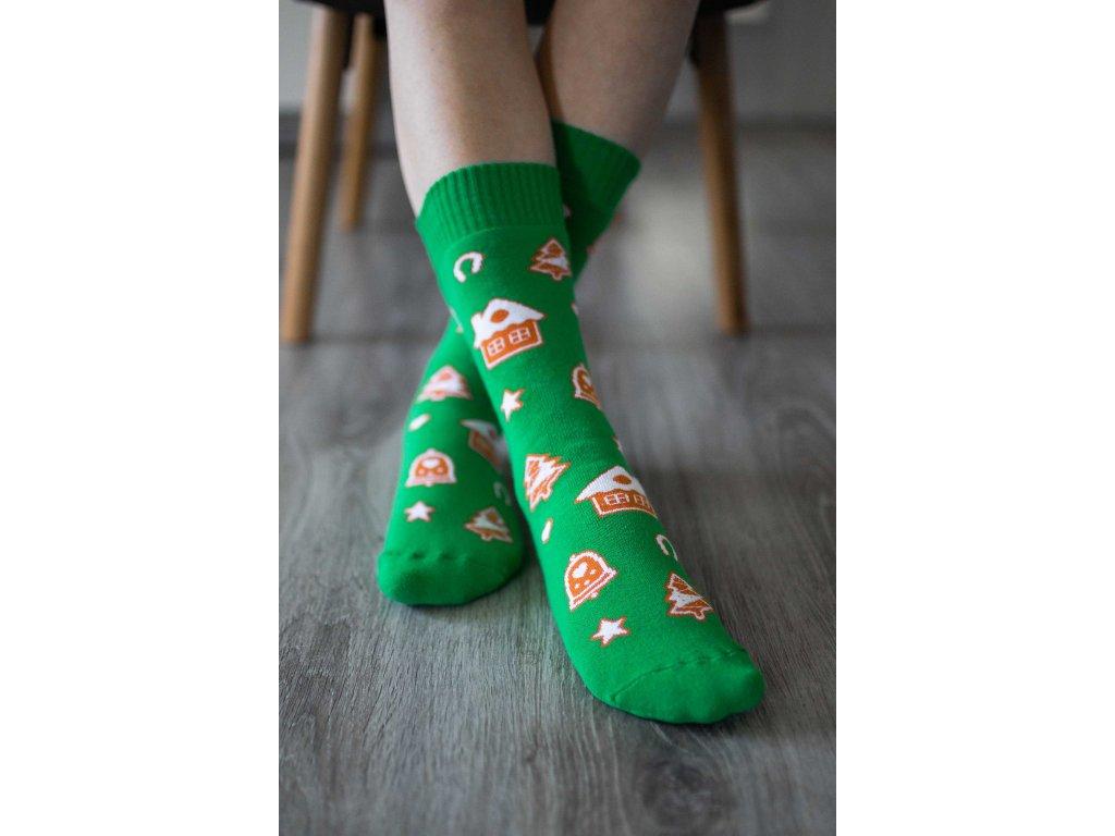 Zimní barefoot ponožky - Perníčky