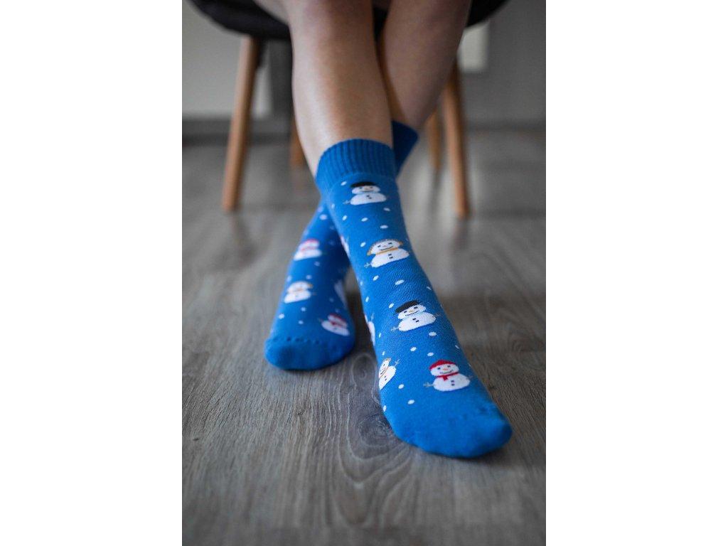 Zimní barefoot ponožky - Sněhulák