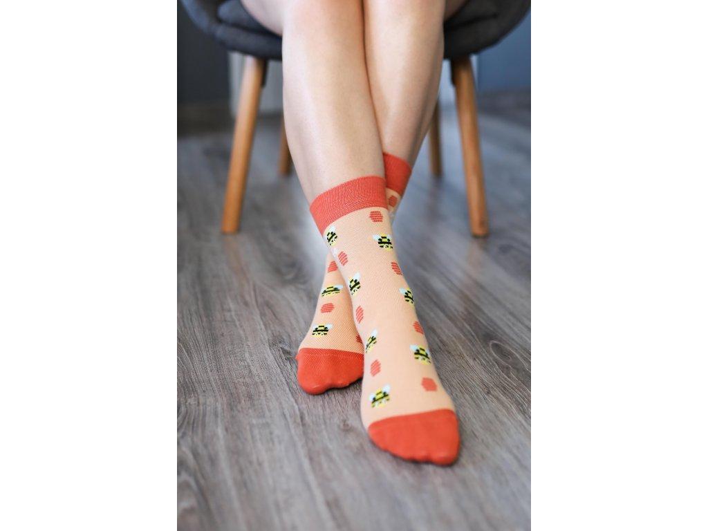 Barefoot ponožky - Včelky