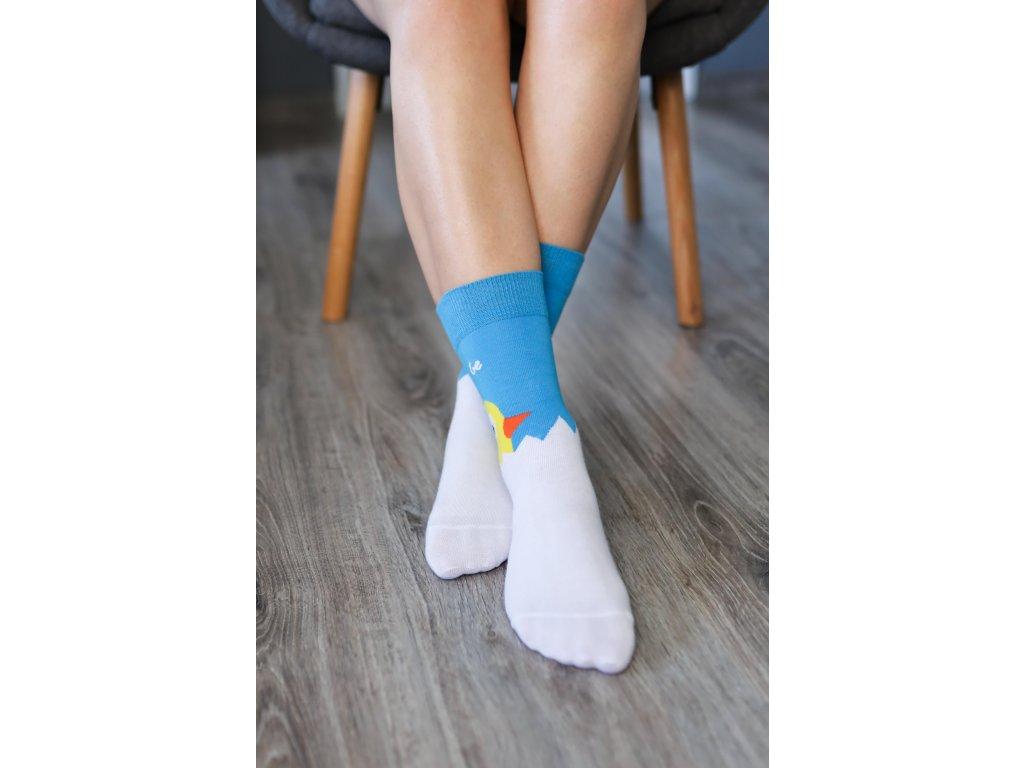 Barefoot ponožky - Kuřátko