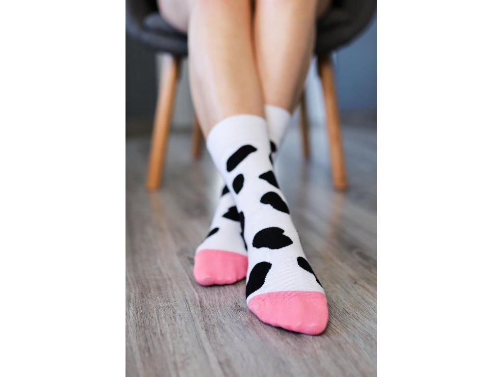 Barefoot ponožky - Kravička