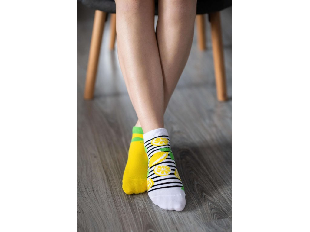 Barefoot ponožky krátké - Citrony