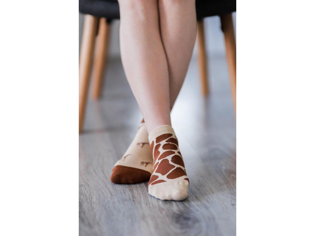 Barefoot ponožky krátké - Žirafa
