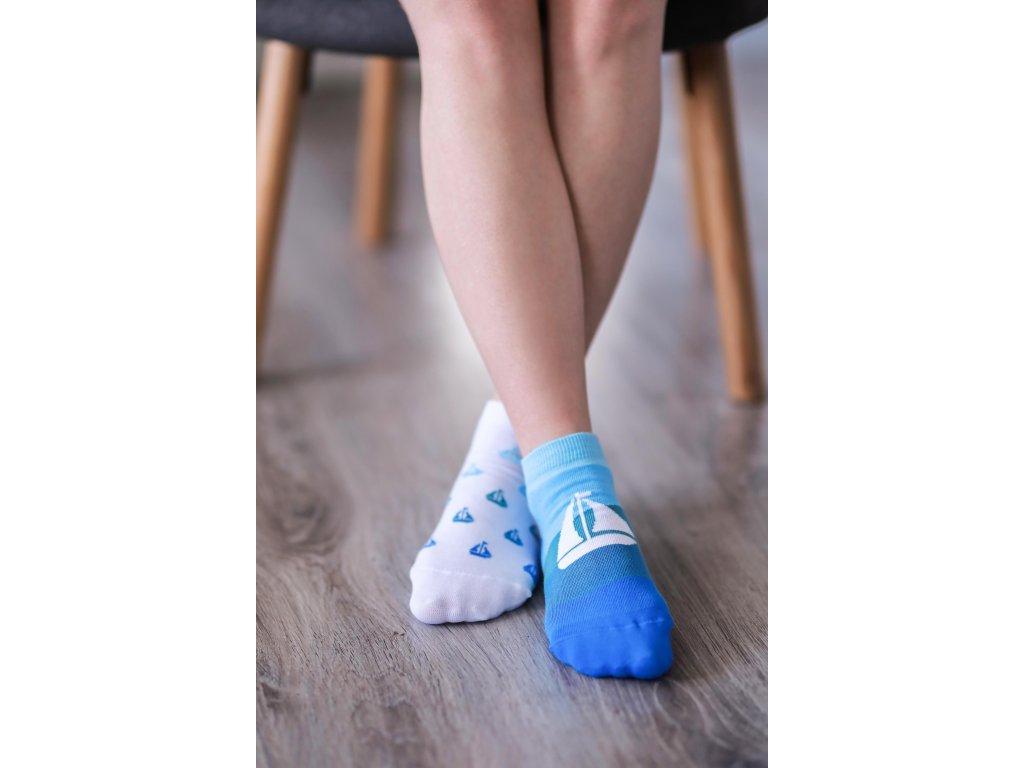 Barefoot ponožky krátké - Lodě