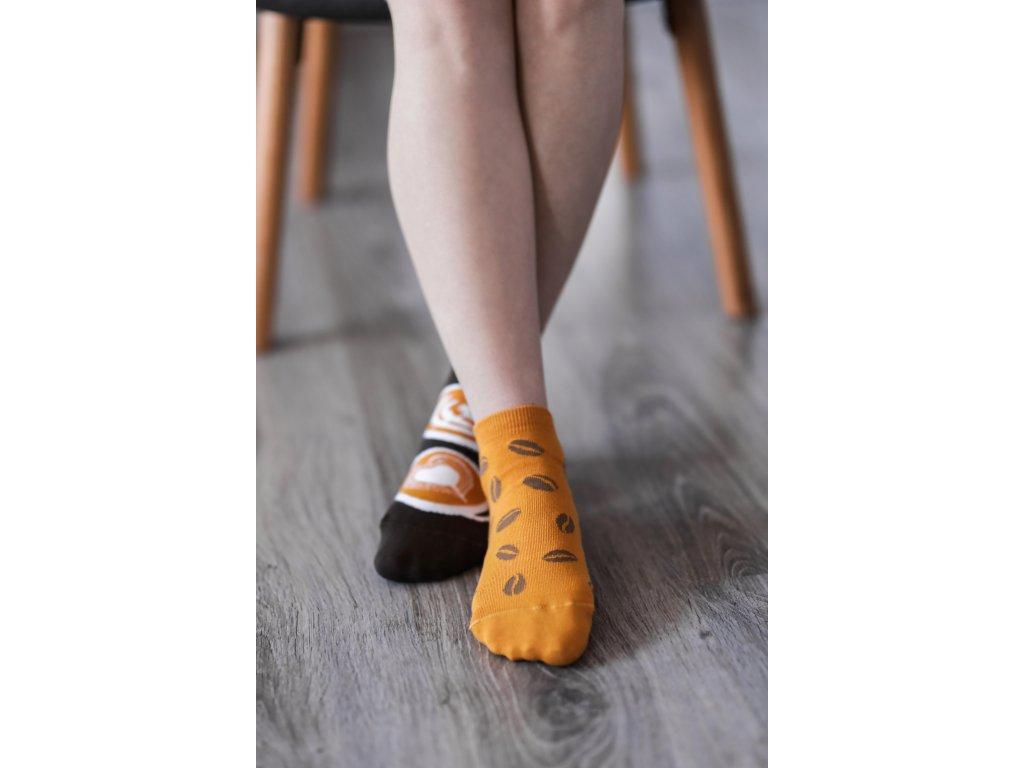 Barefoot ponožky krátké - Káva