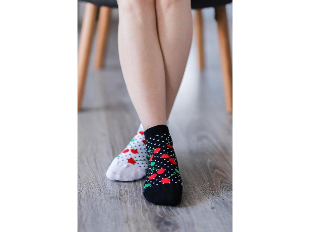 Barefoot ponožky krátké - Třešně