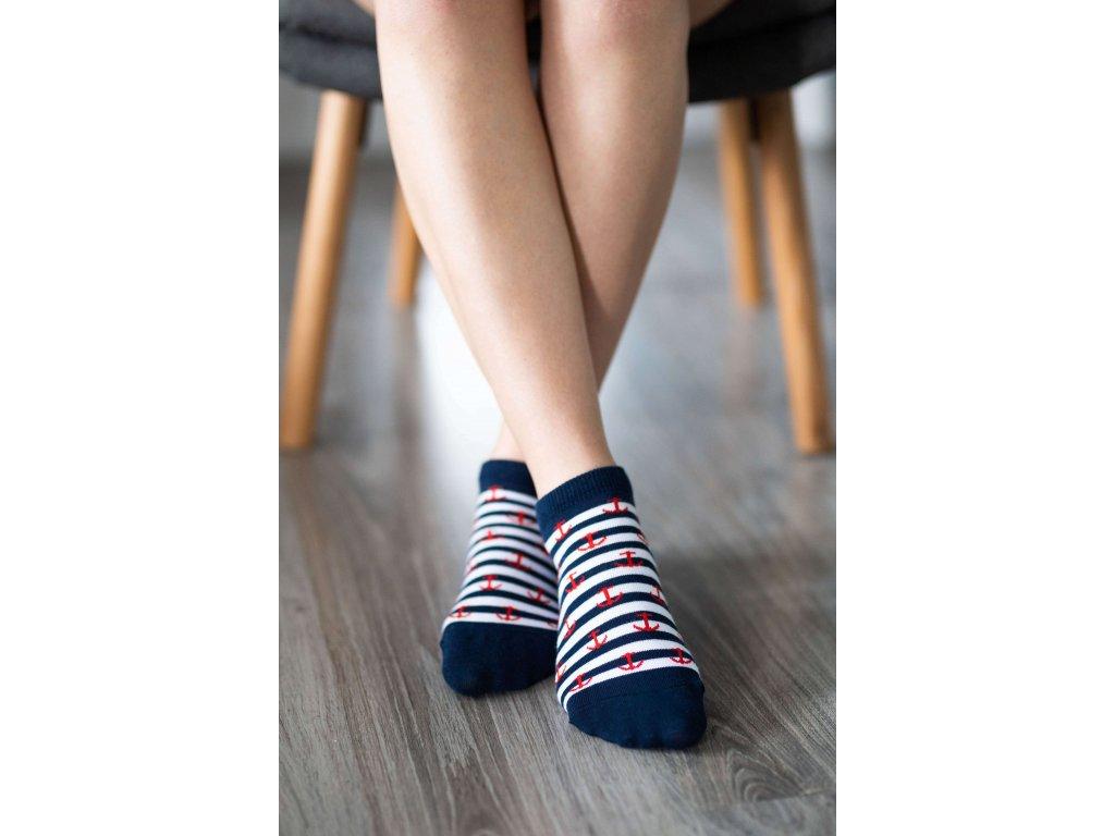Barefoot ponožky krátké - Kotvy
