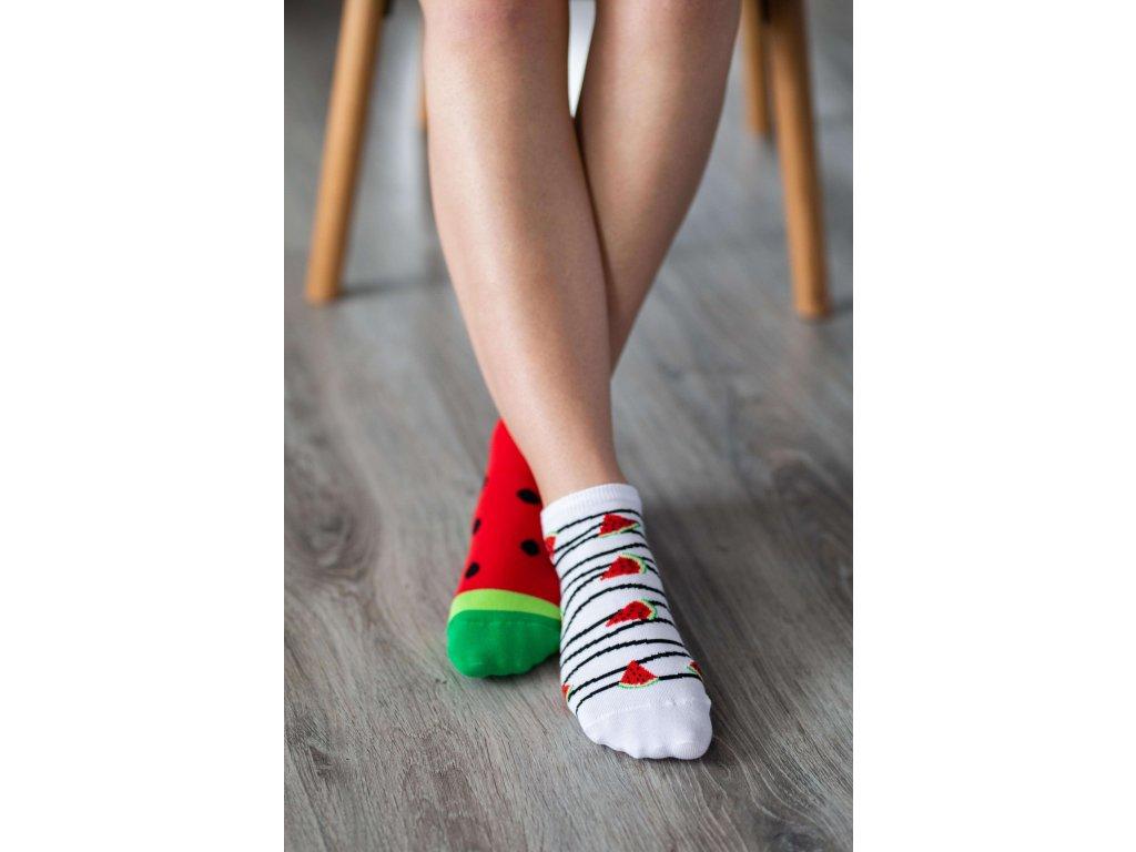 Barefoot ponožky krátké - Meloun