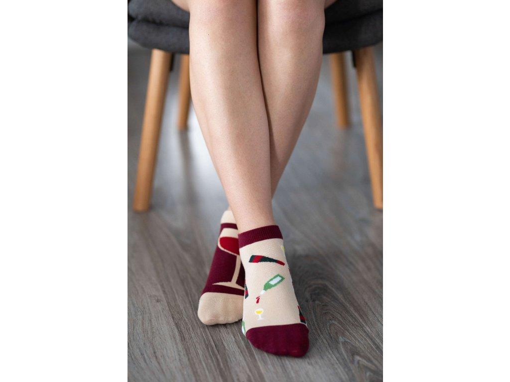 Barefoot ponožky krátké - Víno