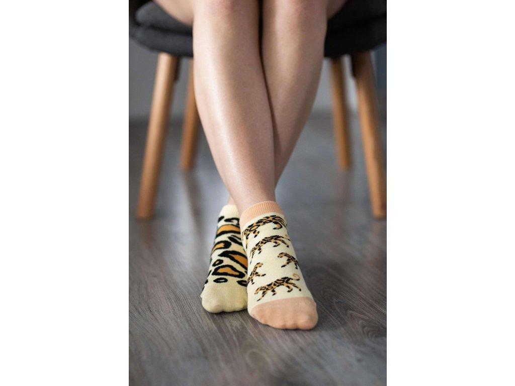 Barefoot ponožky krátké - Leopard