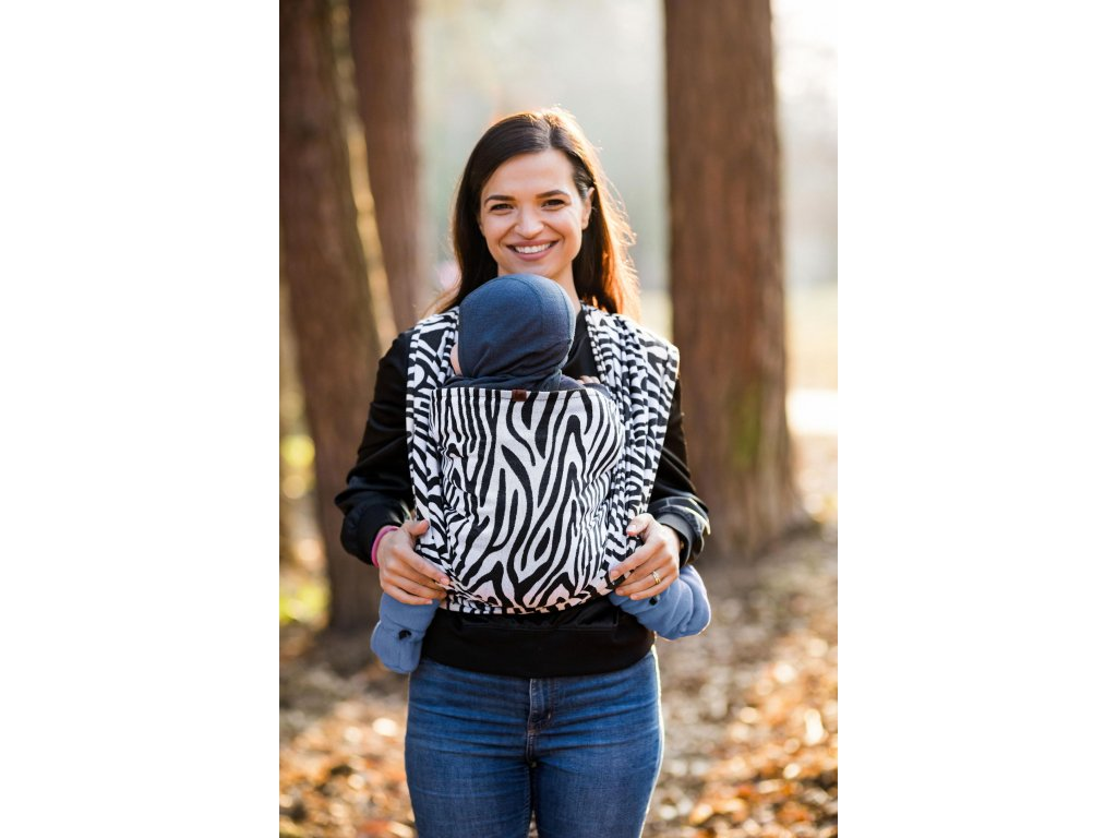 Šátek Be Lenka Zebra - Black & White