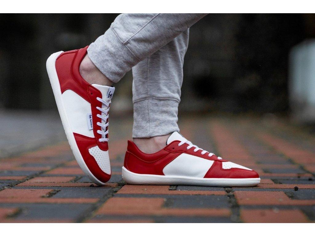 Barefoot tenisky Be Lenka Champ - Patriot - Red & White