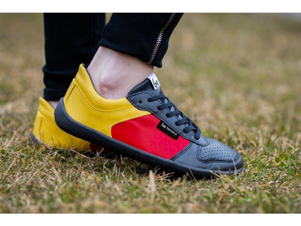 Barefoot tenisky Be Lenka Champ - Patriot - Black, Red & Gold