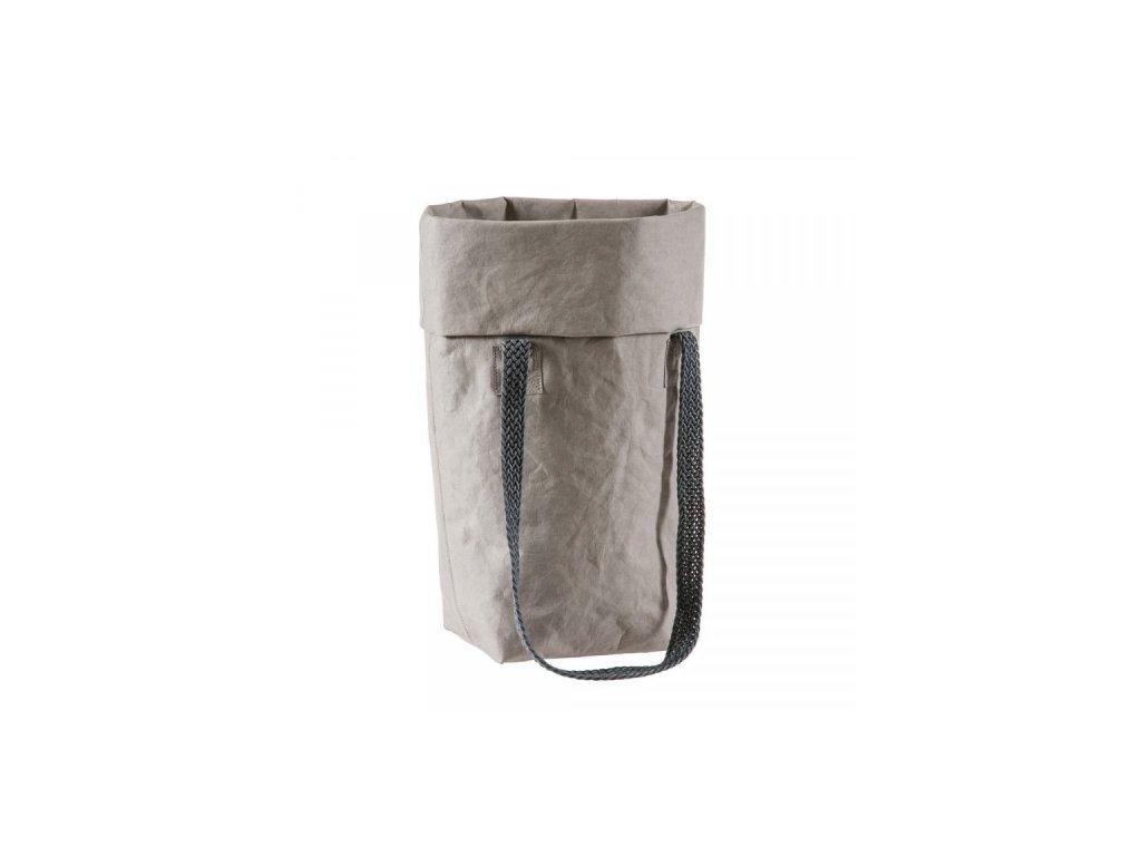 Dámská kabelka Marie top z Kraft Texu šedá 1
