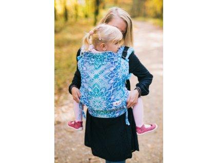 Nosítko Be Lenka Toddler Mandala - modrá