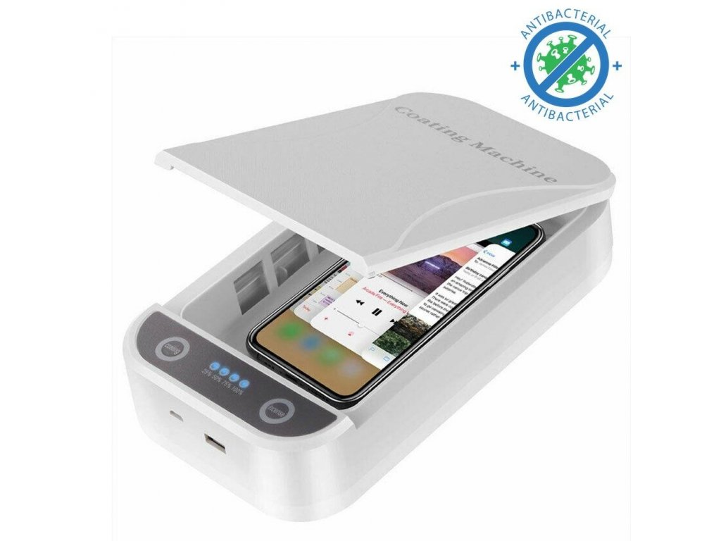 UV iPhone Sterilizer Box with Wireless Charger