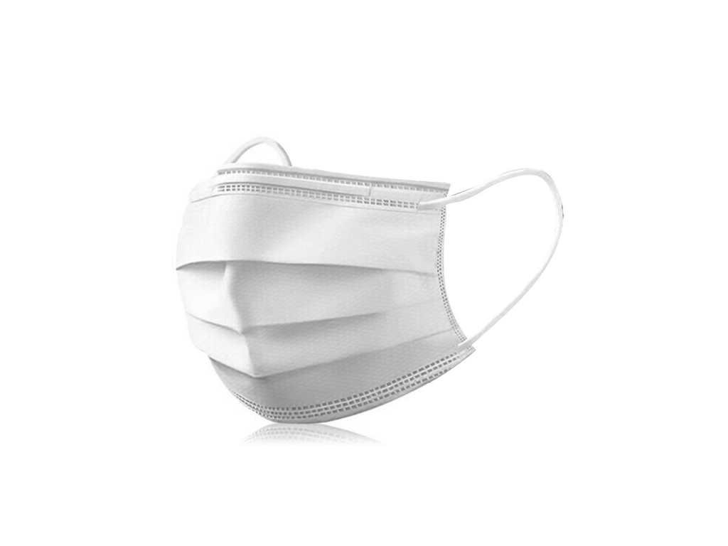 Adult Men Women Cotton Lane Disposable Protective Mask Solid Color White Masks 3 Layer Dust Antiviral.jpg 640x640q70