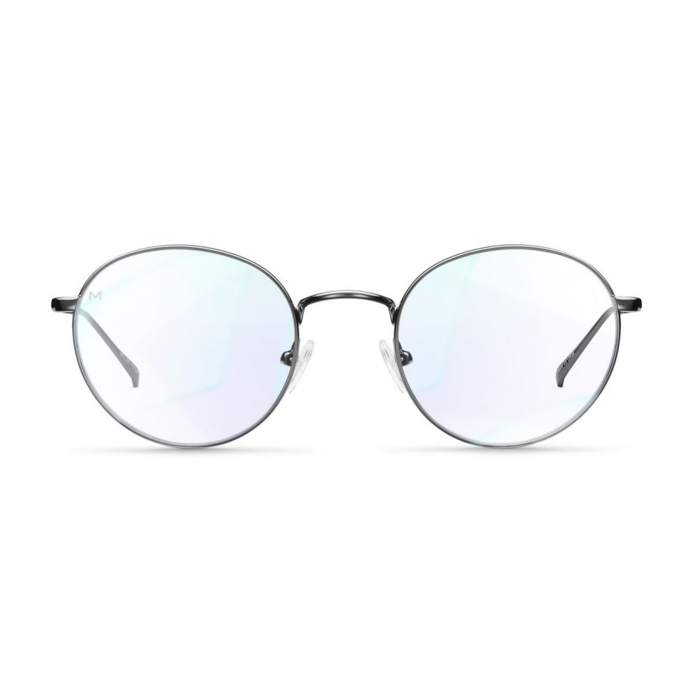 MELLER YUDA GUNMETAL okuliare na počítač s filtrom blokujúcim modré svetlo