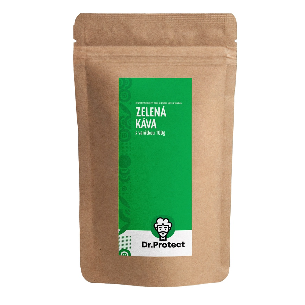 Dr.Protect Zelená káva s vanilkou 100g