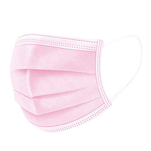 Ružové ochranné rúško na ústa chirurgické certifikované – 10 ks
