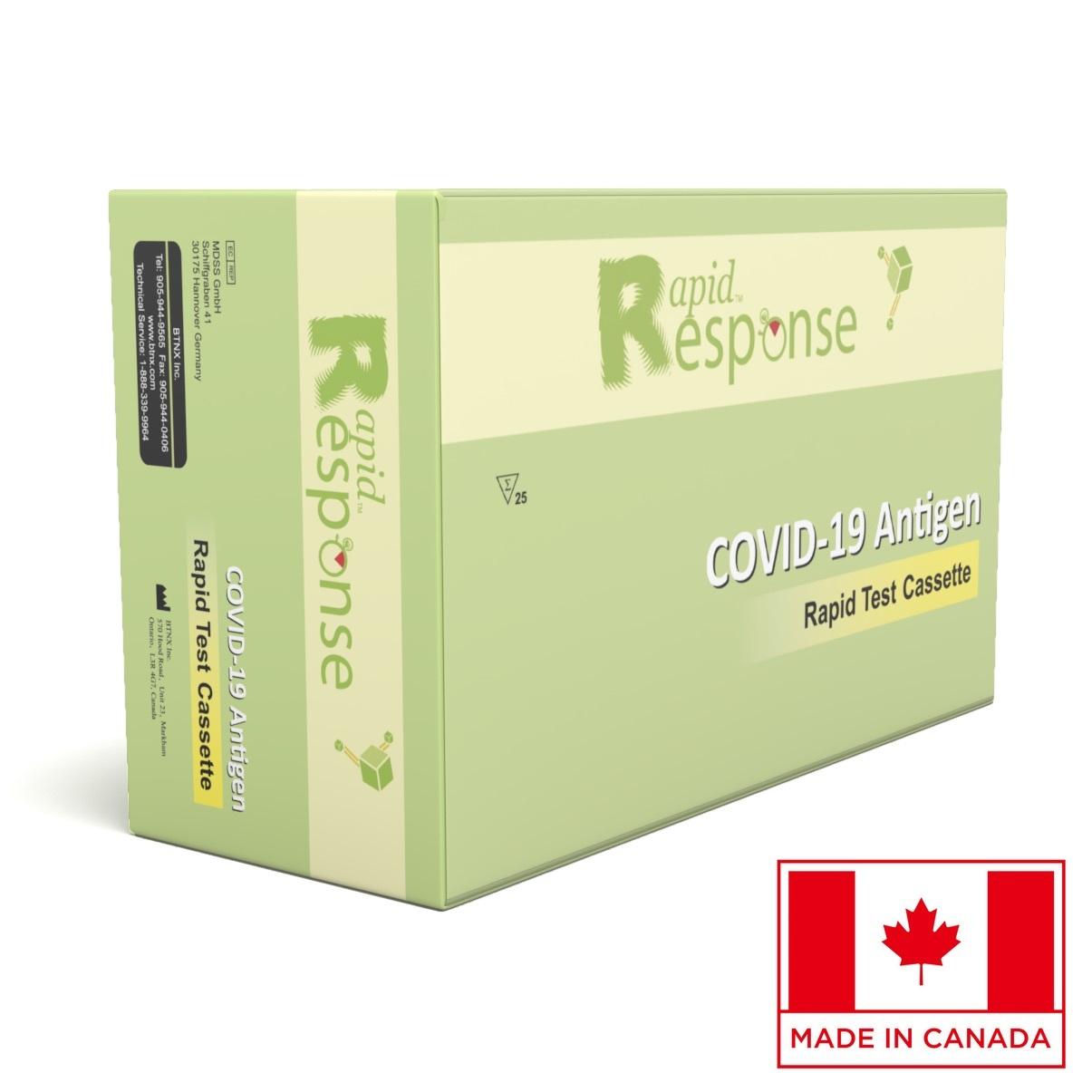 Certifikovaný kanadský antigénový rýchlotest na COVID-19 zo slín Rapid Response Ag s presnosťou 99,5% – 25 ks