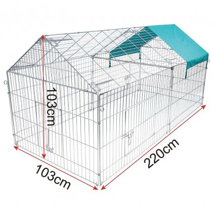 výběh pro slepice 220x103x103cm