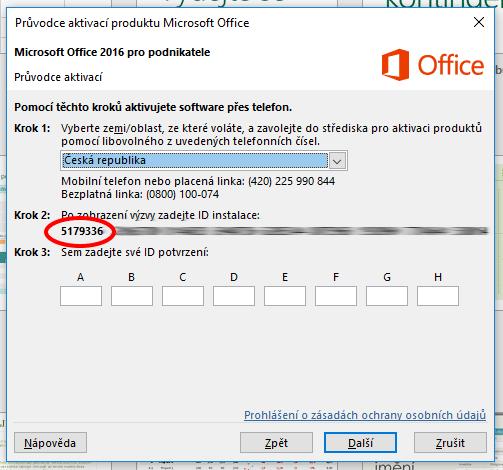 ID instalace - Office 2013