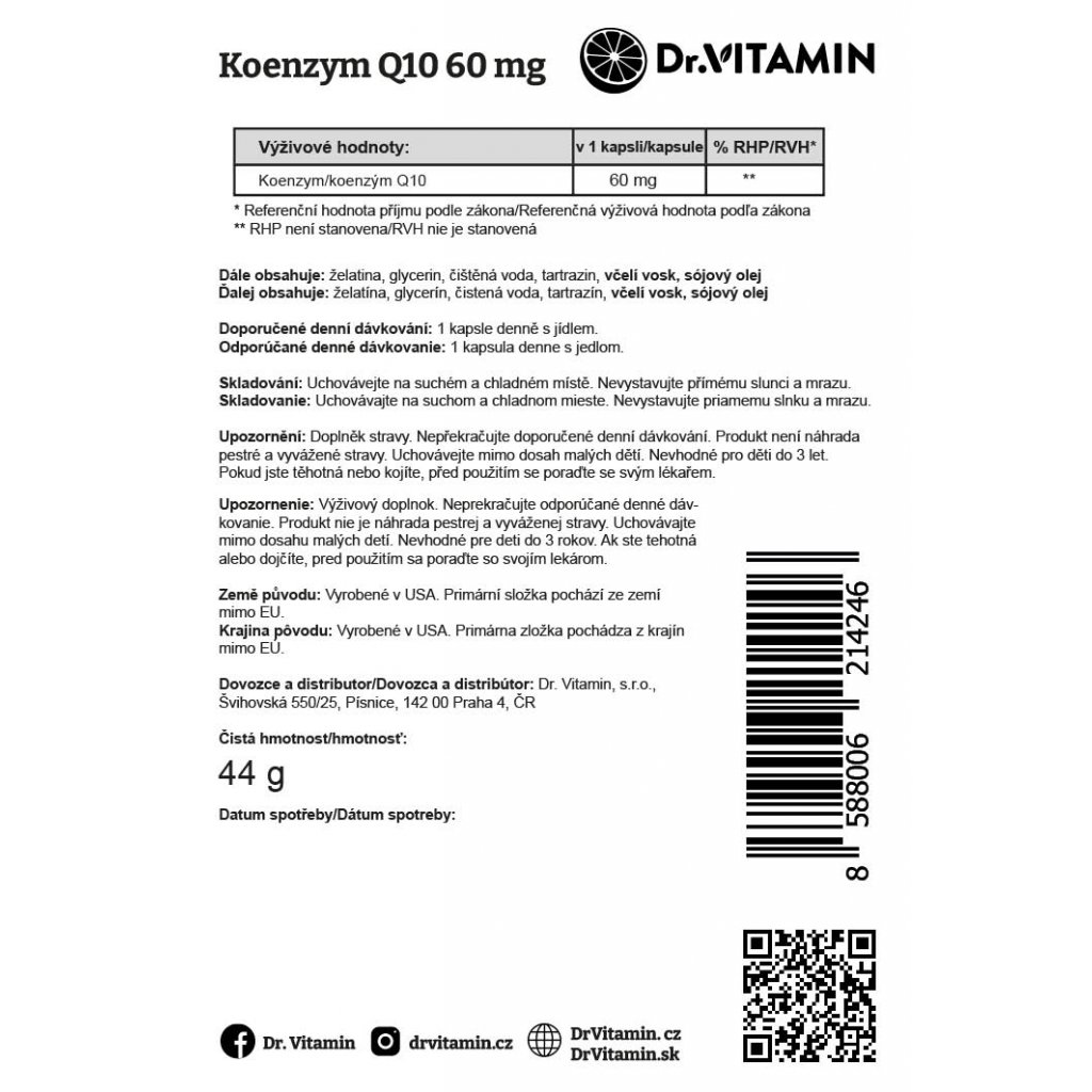Koenzym Q10 60mg