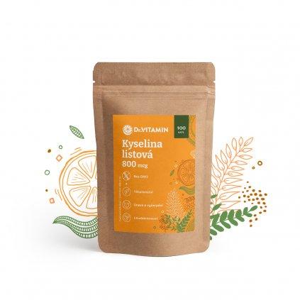 Vitamin B9 kyselina listová 800 µg