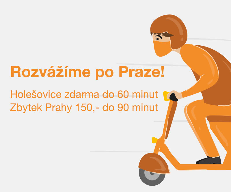 Využijte náš pražský expres rozvoz!