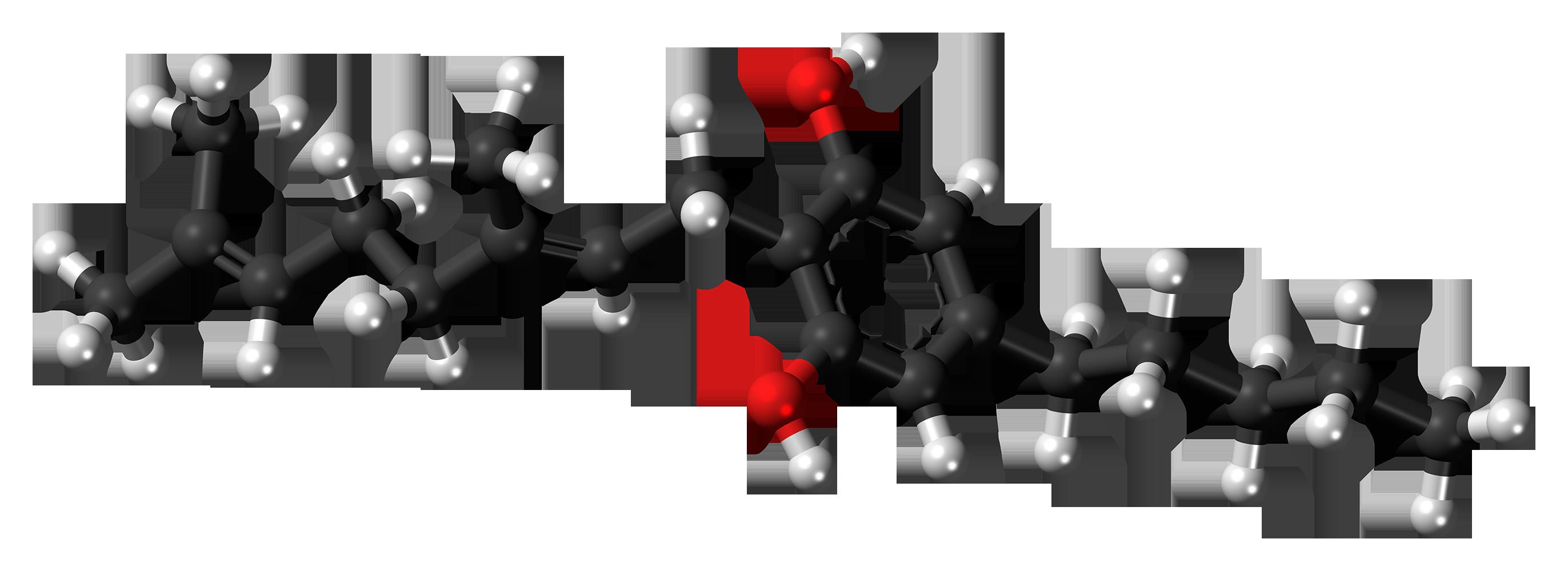 Cannabigerol_molecule_ball