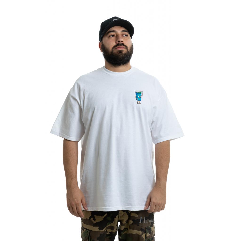 Triko s postavičkou – bílé  malá postavička na prsou