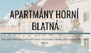 apartmány Horní Blatná