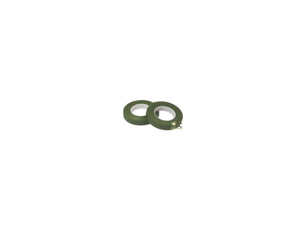 Ovinovací páska Oasis - 13mm tmavě mechově zelená (2ks)