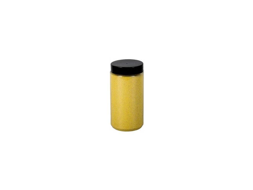 Písek Briliant dekorační 600g - žlutá