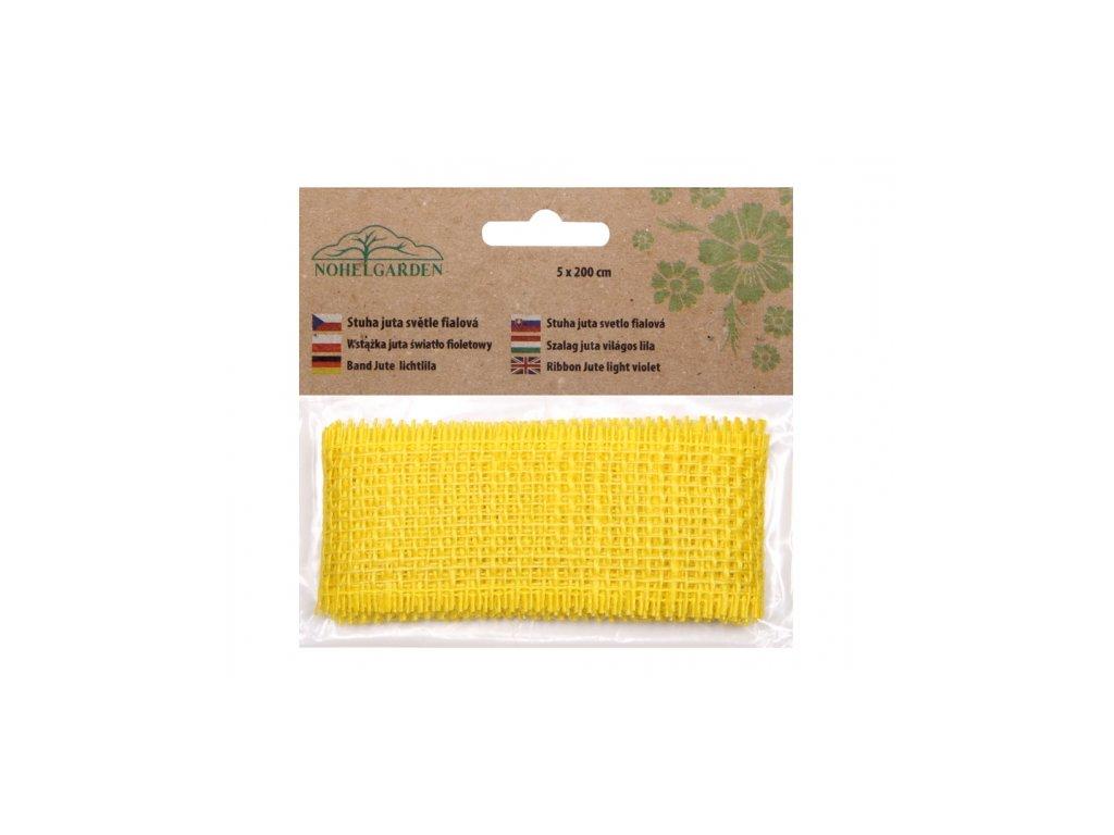 Stuha JUTA žlutá šířka 5cm délka 2m