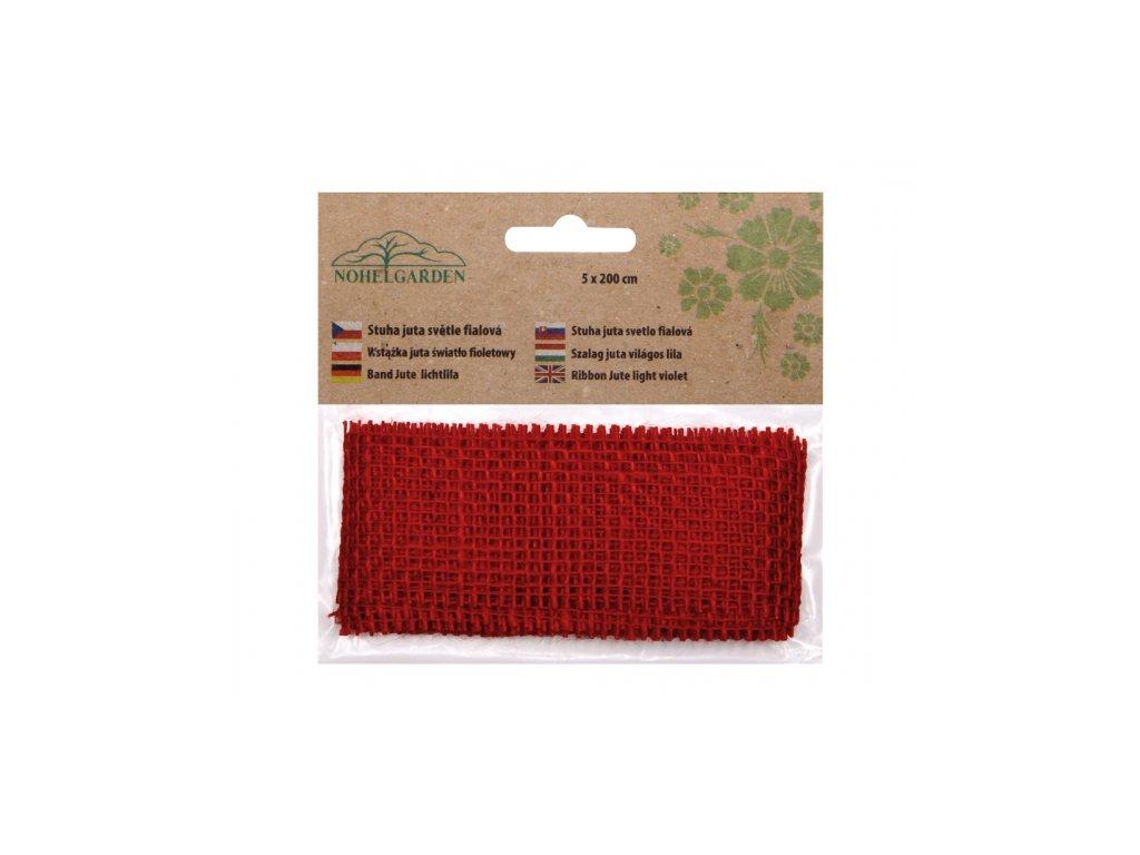 Stuha JUTA červená šířka 5cm délka 2m