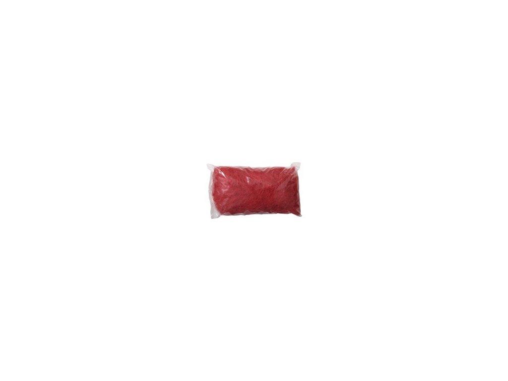 Sisálové vlákno 50g - červené