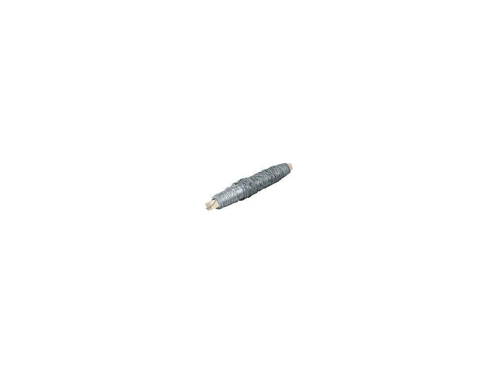 Drát vázací - pozinkovaný stříbrný 100g