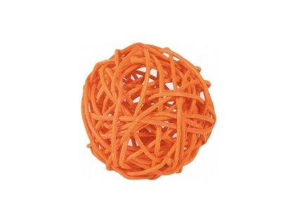 Koule aranžovací ratanová 6cm - oranžová