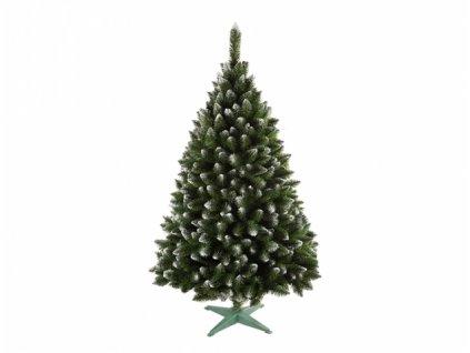 Stromek JEDLE umělý vánoční s bílými konci + stojan 160cm