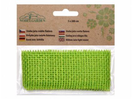 Stuha JUTA světle zelená šířka 5cm délka 2m