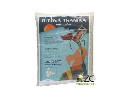 Jutová tkanina 1,3x1m - bílá