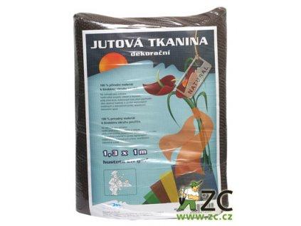 Jutová tkanina 1,3x1m - hnědá