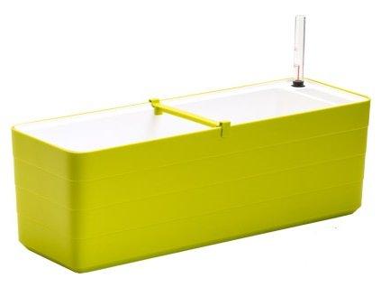 Truhlík samozavlažovací Berberis - zelená + bílá 60 cm