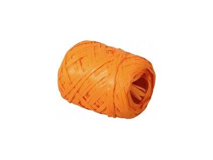 Stuha Rafia 12,5mm x 20m - oranžová