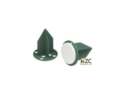 Oasis pini - na aranžovací hmotu zelený 3cm s lepící podložkou