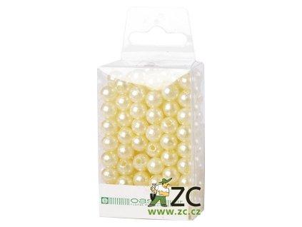 Dekorační perly 8mm (144ks) - krémové